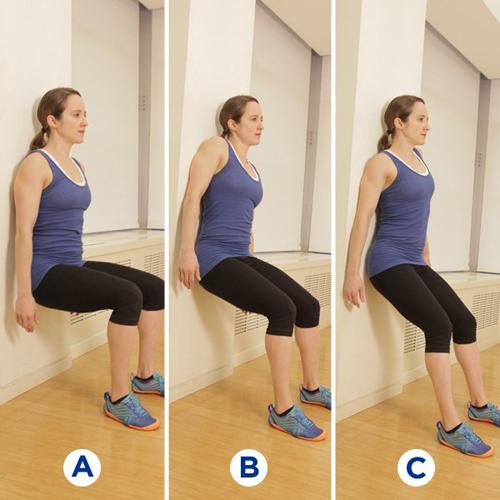 3 bài tập với bức tường giúp ngực đẹp hơn siêu đơn giản
