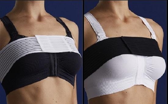 Mặc áo định hình ngực sau phẫu thuật nâng ngực nội soi